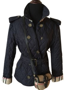 Burberry London Quilted Checks COLOR: DARK NAVY Jacket