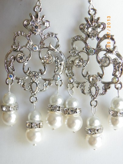 Bridal Chandelier Earrings Swarovski Crystal And Pearl Earrings Victorian Wedding Vintage Style Earrings Wedding