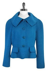 St. John Teal Angora Wool Blend Jacket