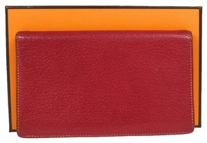 Hermès HERMES Logos Agenda Notebook Cover Leather Red France