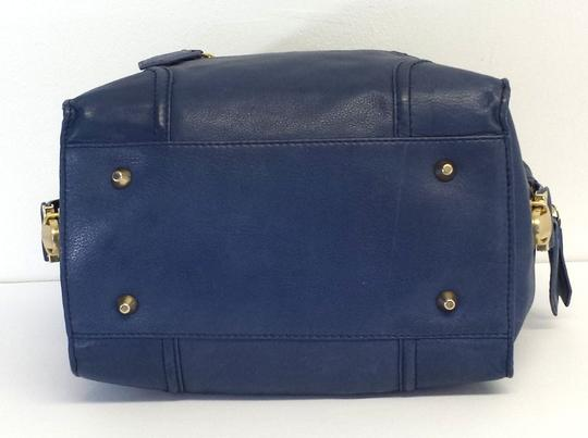 Foley + Corinna Blue Leather Shoulder Bag