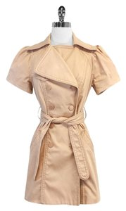 Catherine Malandrino Blush Cotton Blend Trench Jacket