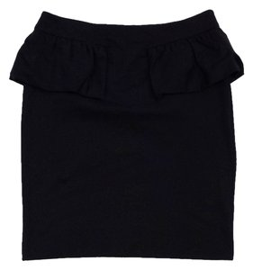 Marc by Marc Jacobs Black Blend Peplum Skirt