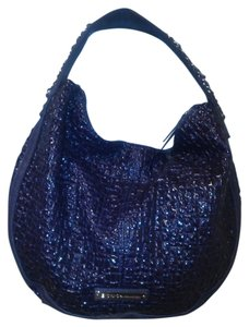 BCBGeneration Faux Faux Patent Hobo Bag