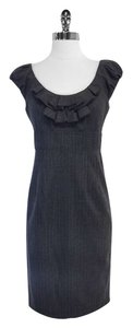 Rebecca Taylor short dress Grey Pinstriped Wool Cap Sleeve on Tradesy