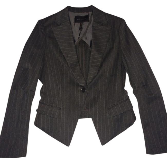 BCBGMAXAZRIA Gray w/ White Pin Stripes Blazer