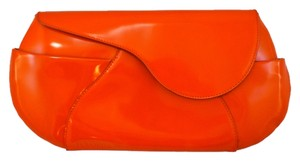Jil Sander Leather Orange Clutch