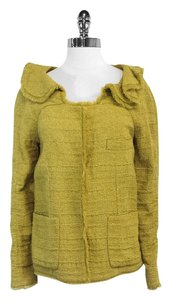 Marni Olive Green Silk Blend Jacket