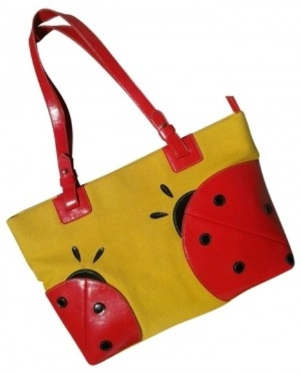 Maxx New York Tote in Yellow and Red details