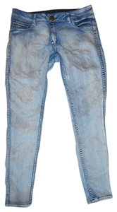 Flip Side Inside-out Reversible Double-sided 2 In 1 Skinny Jeans-Acid