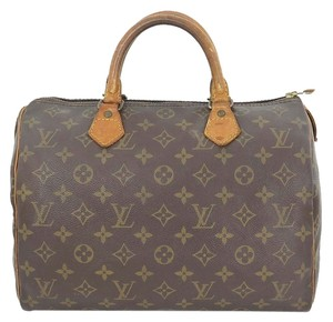 Louis Vuitton Speedy 30 Monogram Boston Hand Brown Travel Bag
