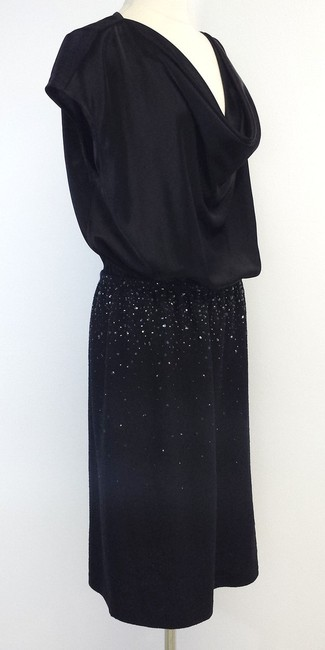 St. John short dress Black Cap Sleeve Embellished on Tradesy