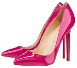 Christian Louboutin Neon Patent Patent Leather Pink Pumps