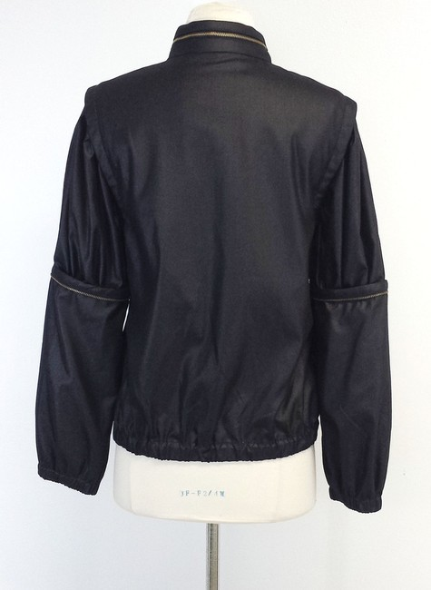 Magaschoni Black Wool Bomber Jacket