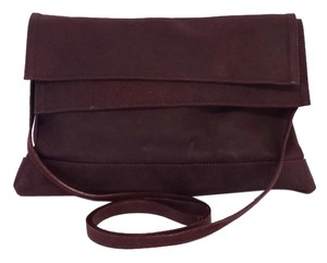 Donna Karan Wine Leather Cross Body Bag