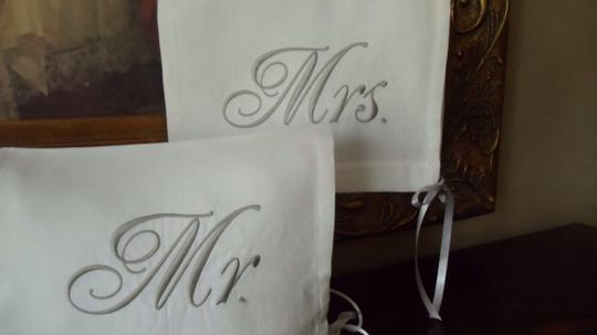 Ivory and Gray/Silver Mr. Chiavari Chair Toppers Reception Decorations