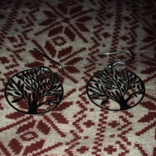 Other Silver Tree Of Life Earrings