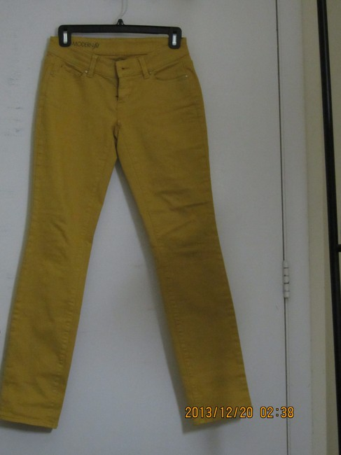 Ann Taylor Straight Pants Luminous Yellow