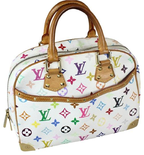 Preload https://item2.tradesy.com/images/louis-vuitton-trouville-white-multi-color-leather-shoulder-bag-5408626-0-1.jpg?width=440&height=440