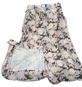 Anne Klein petites Skirt grey-green, cream & light blush pink