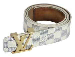 Louis Vuitton Louis Vuitton Damier Azure Belt - Size 95/38 - Blue/White
