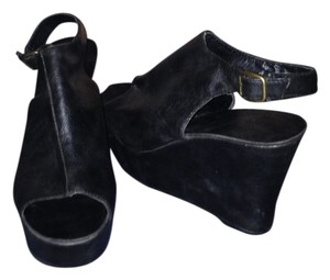 Peep Toe Wedge Classic Bootie black Wedges