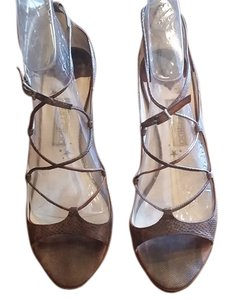 Jimmy Choo Brown Lizard Sandals