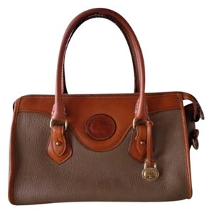 Dooney & Bourke Leather Vintage Satchel in olive and tan