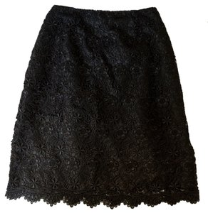 Apt. 9 Lace Pencil Secretary Goth Pinup Skirt Black