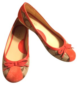Coach Tan/Khaki/Orange Flats