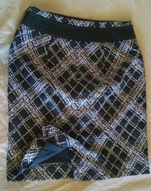 The Limited Pencil Print Skirt White