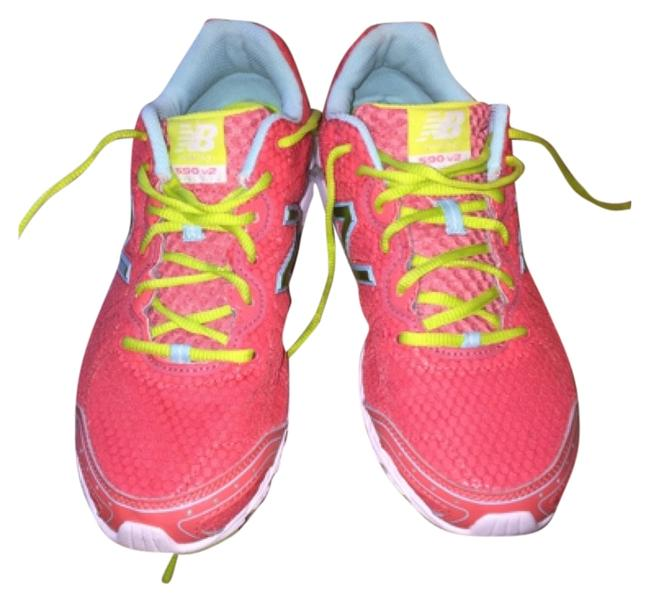 Item - Neon Pink with Neon Green Inside Soles Sneakers Size US 9.5 Regular (M, B)