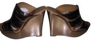 Coach Metallic Champagne Bronze Wedges