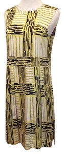 Diane von Furstenberg short dress Painted plaid, new light lime on Tradesy