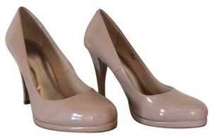 M&S Collection Faux Patent Nude Pumps