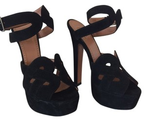 ALAA European Suede Black Platforms