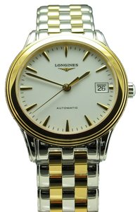 Longines Longines Flagship Two Tone Automatic Stainless Steel & Gold Tone White Dial Bracelet Watch L4.774.3.22.7 L47743227