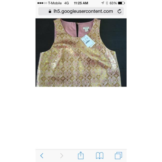 J.Crew Top Pink and gold