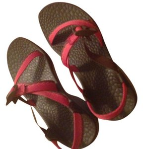 Chaco Outdoors Hiking River Red Sandals