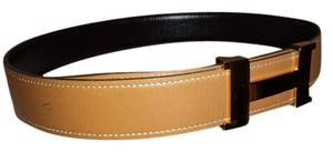 Hermès HERMES H BELT KIT IN BROWN AND GOLD LEATHER