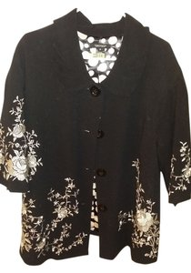 Karen Kane Plus-size Black/White Blazer