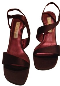 Nina Satin Strappy maroon Pumps