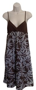 Roxy short dress Brown floral print on Tradesy