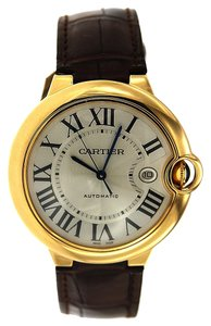 Cartier Cartier Ballon Bleu Yellow Gold - 42MM - Brown Leather Band - W6900551