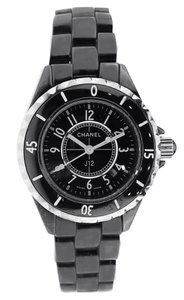 Chanel Chanel J12 Watch - Black Ceramic 33MM Quartz - HO628