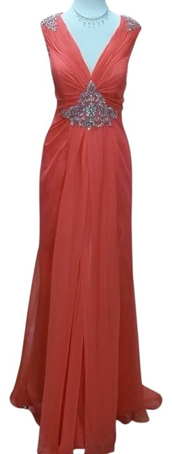 Preload https://item1.tradesy.com/images/impression-bridal-watermelon-32427-long-formal-dress-size-14-l-541105-0-0.jpg?width=400&height=650