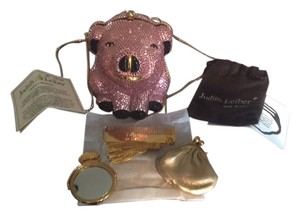 Judith Leiber minaudiere Evening Mint Condition pink, black Clutch