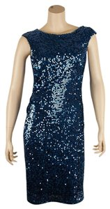 David Meister Sequin Pave Dress