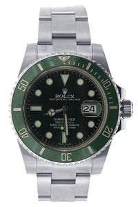 Rolex Rolex Submariner Steel- With Green Ceramic Bezel - The Hulk Watch - 116610LV