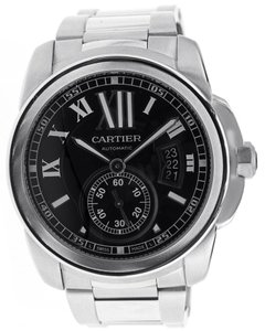 Cartier Cartier Calibre de Cartier Watch - Stainless Steel - Black Dial - W7100016